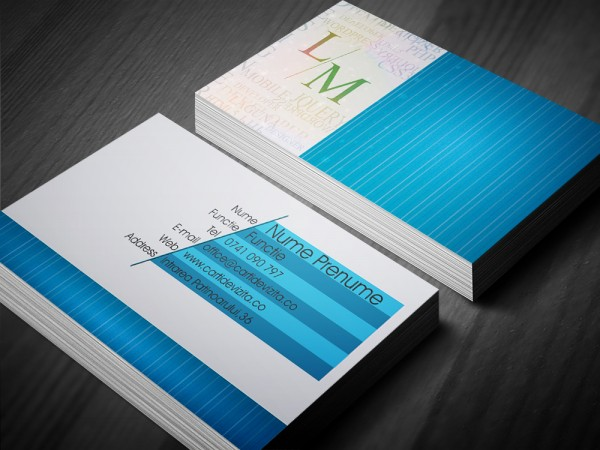 business blue mockup